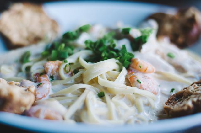 pasta and srhimp